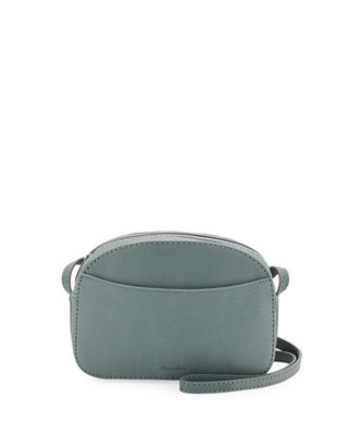STEVEN ALAN Darby Pebble Leather Crossbody Camera Bag in Stormy