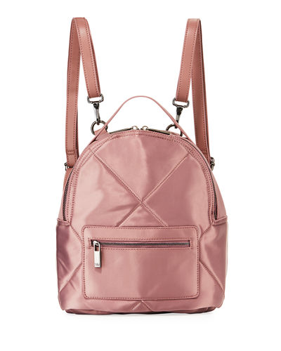 Quilted Satin Backpack