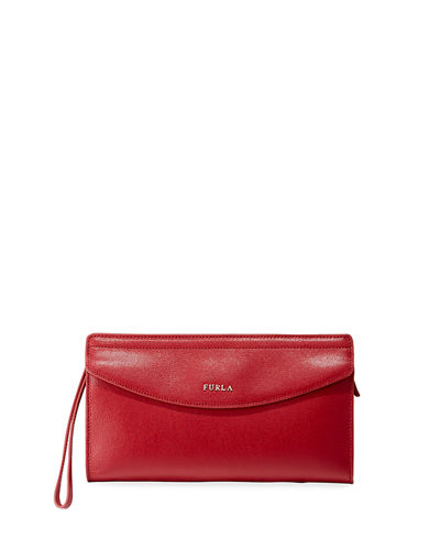 Furla Tea XL Saffiano Leather Envelope Clutch Bag