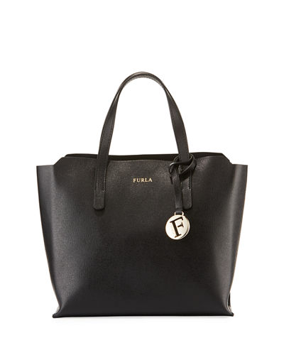 Sally Small Coated Saffiano Leather Tote Bag