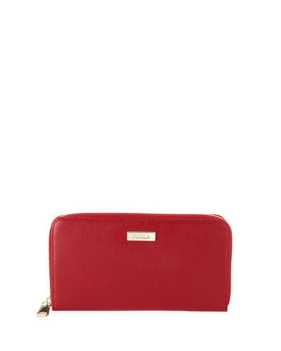 Furla Classic XL Saffiano Leather Zip-Around Wallet