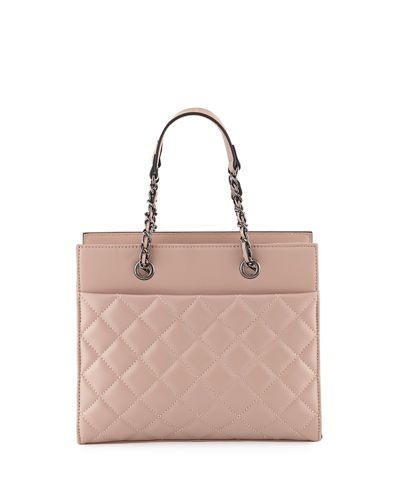 Jules Quilted Leather Tote Bag