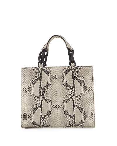 KC Jagger Bowie Python-Embossed Leather Crossbody Bag