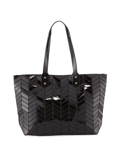 Chevron-Patterned Geo Tote Bag