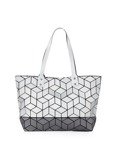 Patrizia Luca Two-Tone Slanted Geometric Tote Bag 2269522157163