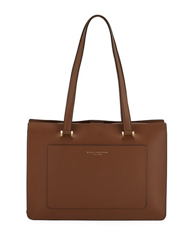 Donna Karan Karla Leather Shoulder Tote Bag