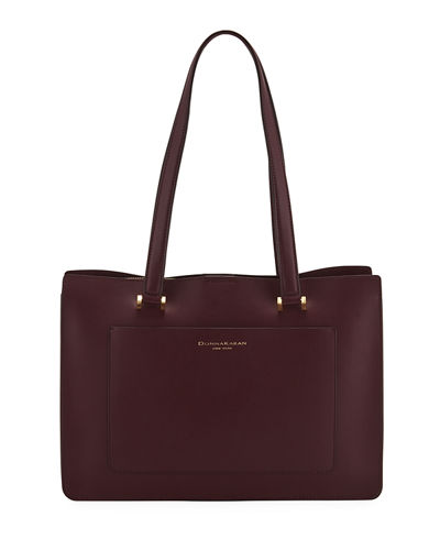 Karla Leather Shoulder Tote Bag