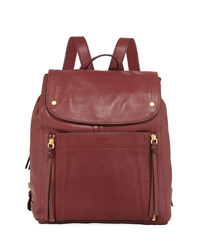 Harlow Leather Backpack Bag