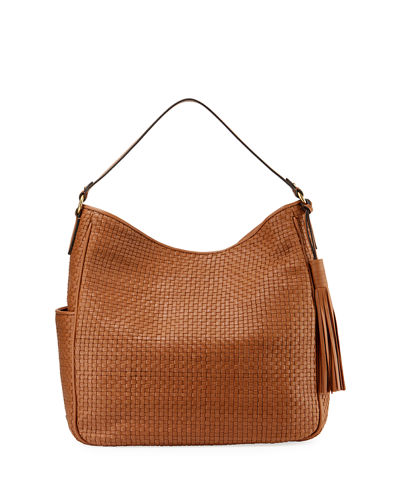 Gabriella Soft Weave Leather Bucket Bag