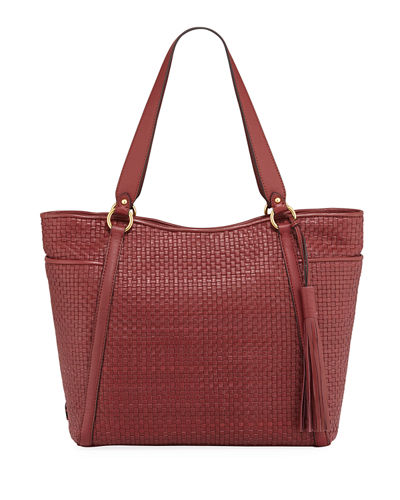 Gabriella Soft Weave Leather Tote Bag