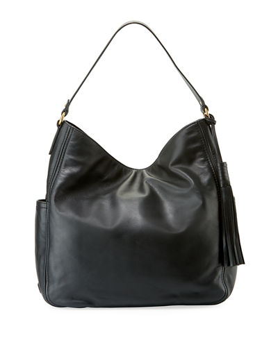 Gabriella Smooth Leather Bucket Bag
