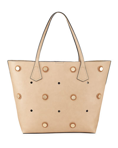 Studded Faux Tote Bag