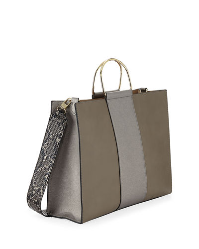 Pace Colorblock Faux-Leather Tote Bag