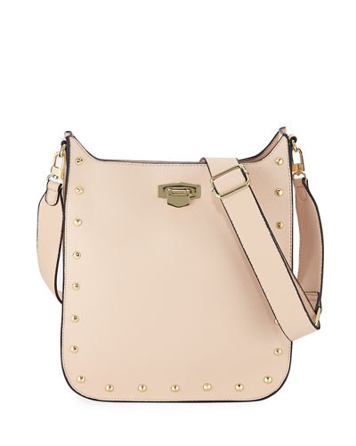 Britt Faux-Leather Studded Crossbody Bag