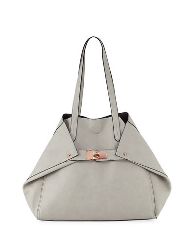 Lyla Foldable Faux-Leather Tote Bag