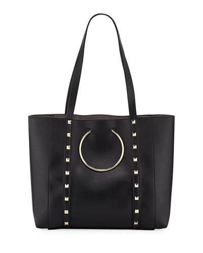Soho Studded Faux-Leather Tote Bag