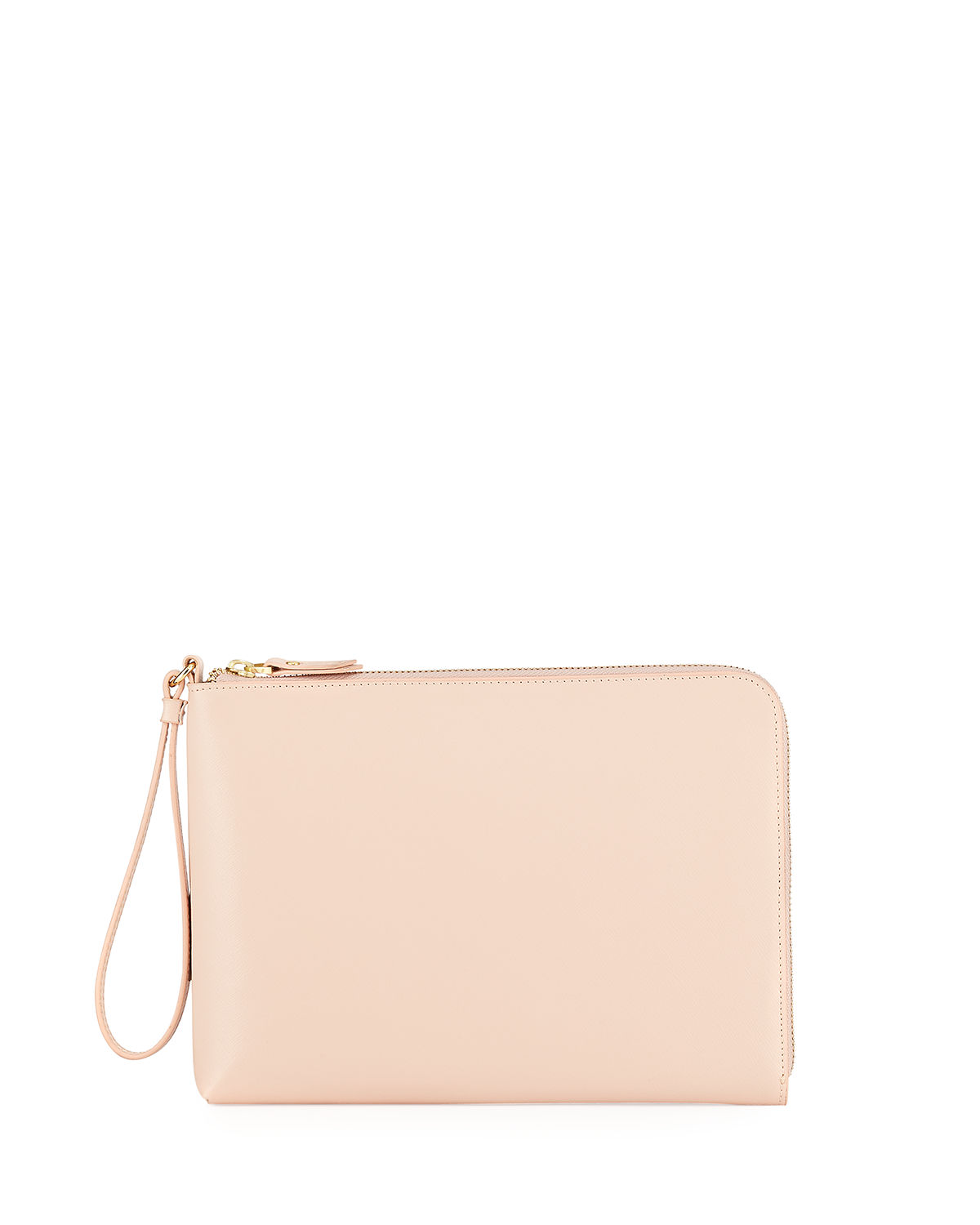 Everything Saffiano Zip Wristlet Wallet
