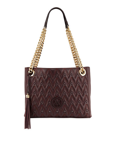 Luisa D Sauvage Quilted Leather Tote Bag