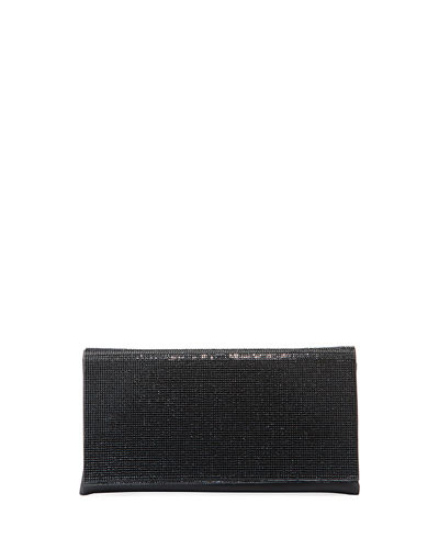 Crystal-Flap Clutch Bag on Chain Strap