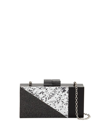 Geometric Confetti-Resin Minaudiere Bag