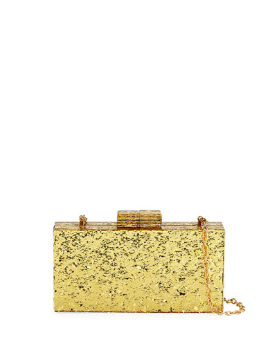 Confetti-Resin Minaudiere Clutch Bag