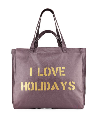 Oversize Canvas Shopper Tote Bag