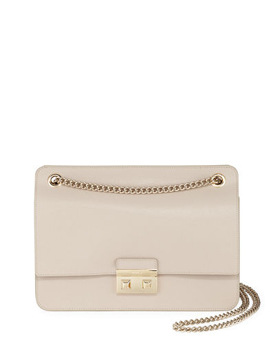 Bella Medium Saffiano Leather Crossbody Bag