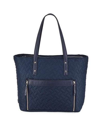 Quilted Nylon Tote Bag