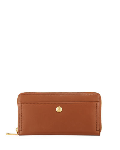 Benson Zip-Around Continental Leather Wallet
