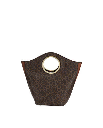 Signature Monogram Round-Handle Tote Bag
