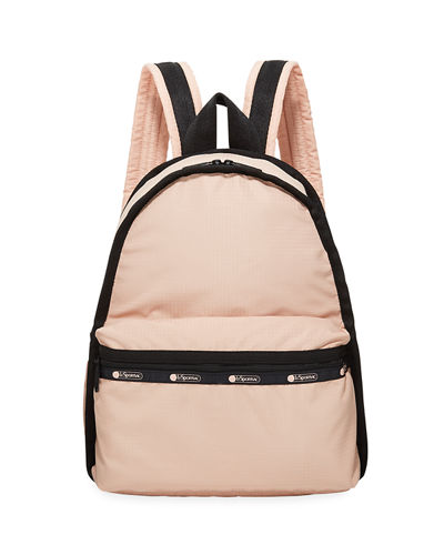 Candace Nylon Mini Backpack w/ Removable Pouch