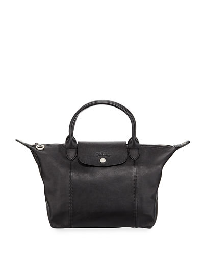 Longchamp Bags LE PLIAGE CUIR SMALL LEATHER TOP-HANDLE BAG WITH STRAP