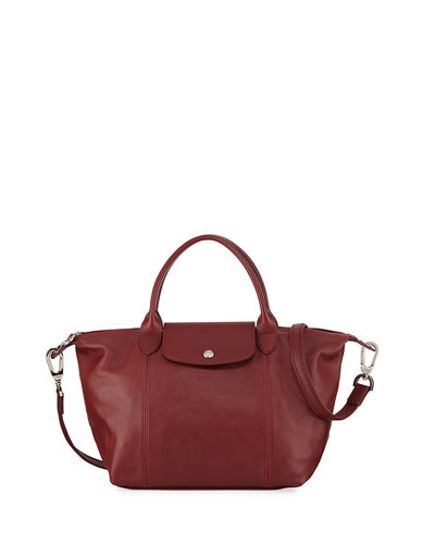 c8e75ee85386 Le Pliage Cuir Small Leather Top-Handle Bag with Strap