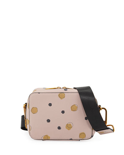 Dotted Faux-Saffiano Crossbody Bag