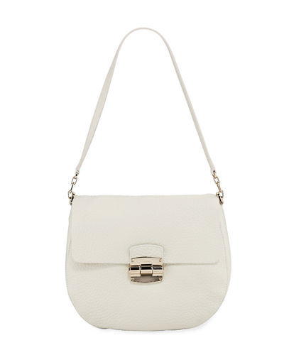 Club Small Leather Crossbody Saddle Bag