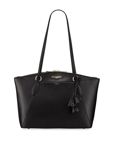 Iris Leather Tote Bag
