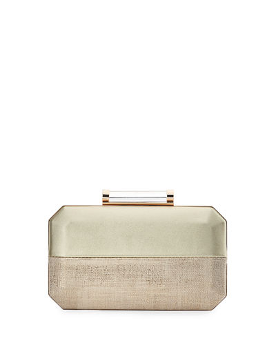 Two-Tone Octagon Box Clutch Bag