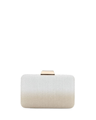 Ombre Glitter Box Clutch Bag