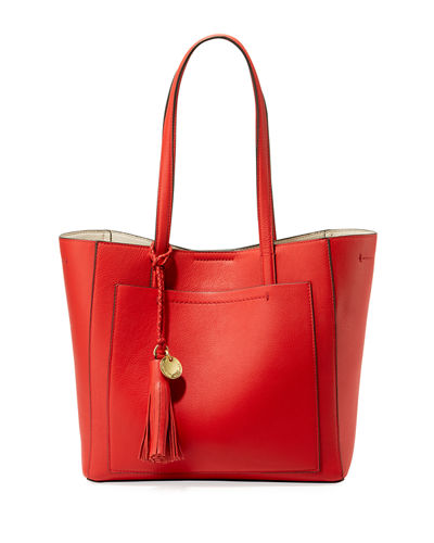 Natalie Small Leather Tote Bag
