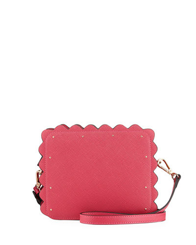Roslyn Scalloped Camera Crossbody Bag