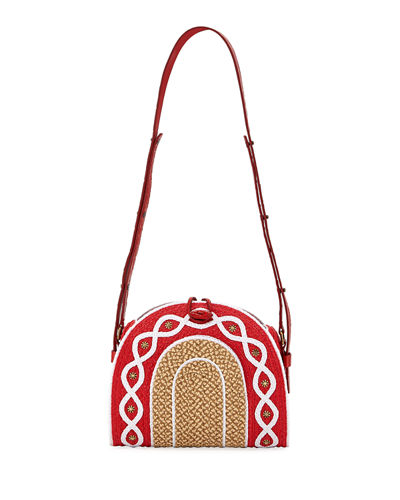 Lil Jiva Raffia Medium Shoulder Bag