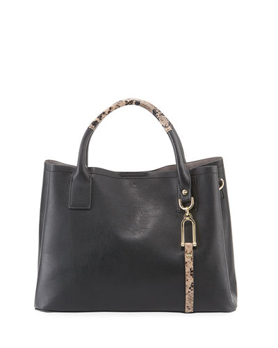 Tyler Medium Faux-Leather Satchel Bag