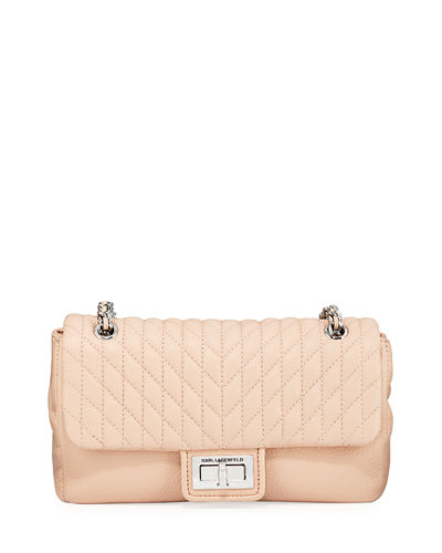 Agyness Quilted Leather Shoulder Bag