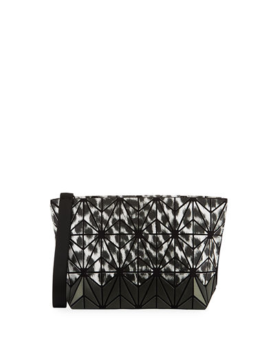 Geometric Tiled Two-Tone Clutch Bag