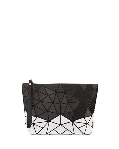 Two-Tone Geometric Tiled Clutch Bag