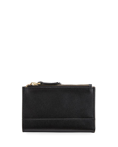 Saffiano Double-Zip Bifold Wallet