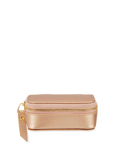 Saffiano Zip-Around Pill Case