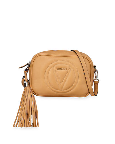 Mia Sauvage Leather Tassel Crossbody Bag