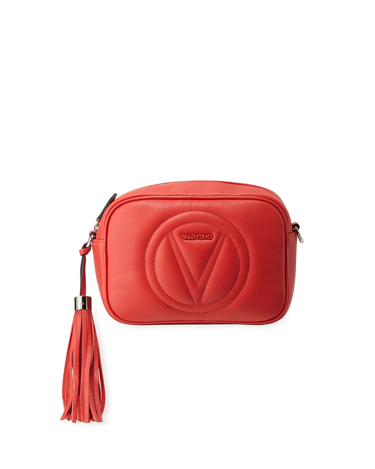 Valentino By Mario Valentino  MIA SAUVAGE LEATHER TASSEL CROSSBODY BAG