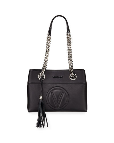 Kali Sauvage Leather Chain-Strap Tote Bag